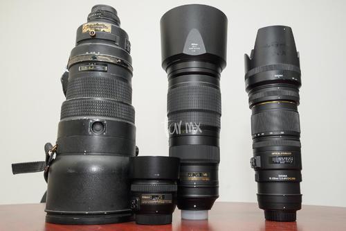 400mm, 50mm, 200-500mm, 70-200mm