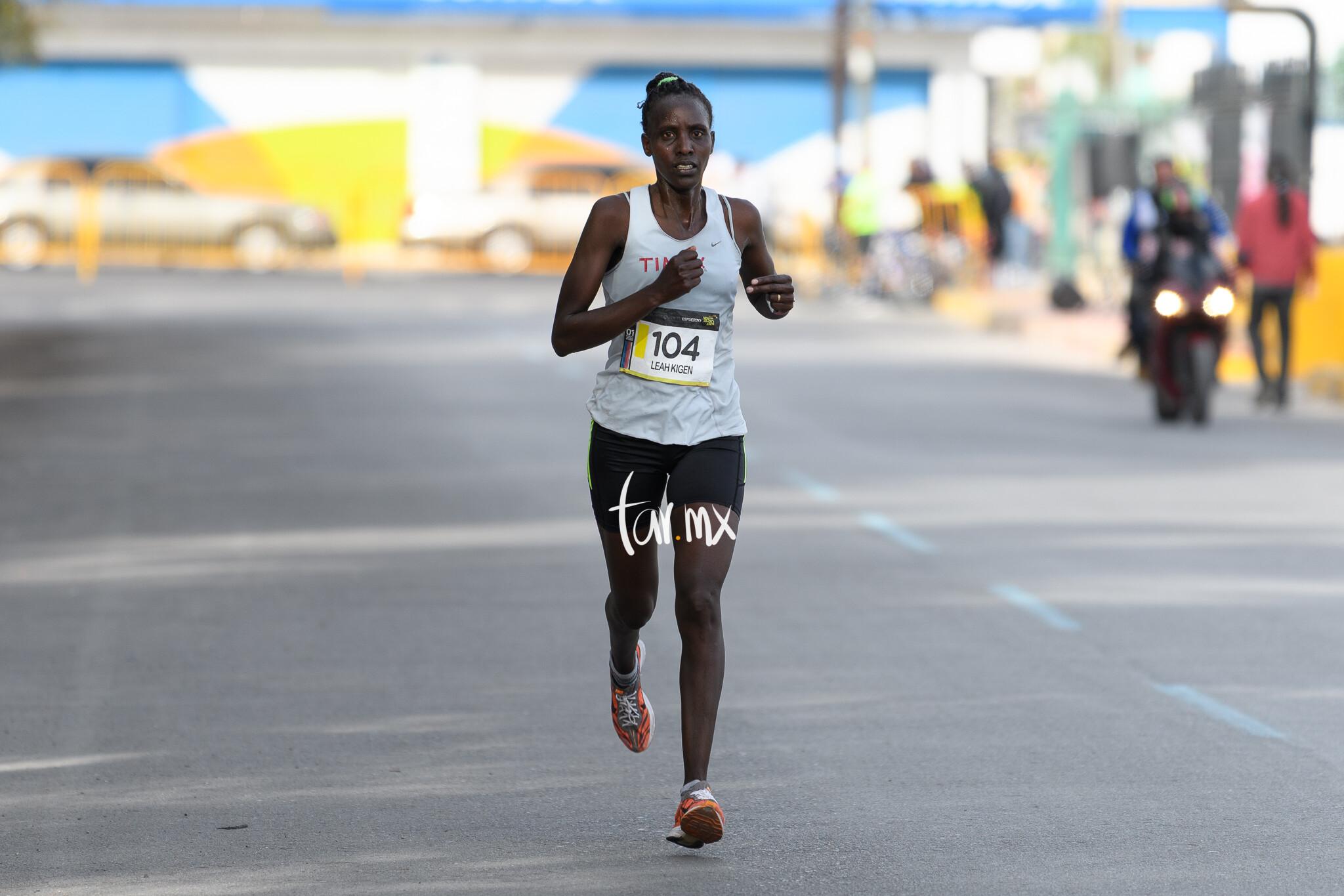 Leah Kigen, Maratón LALA 2020, Bosque Venustiano Carranza