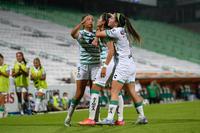 Gol de Alexxandra Ramírez, Daniela Delgado, Alexxandra Ramír
