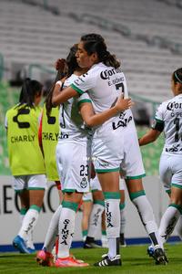 Gol de Alexxandra Ramírez, Alexxandra Ramírez, Estela Gómez