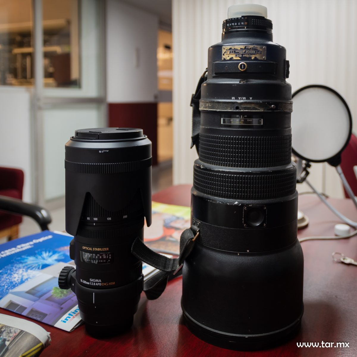 Sigma 70 200mm 2.8 Nikon 400mm 2.8