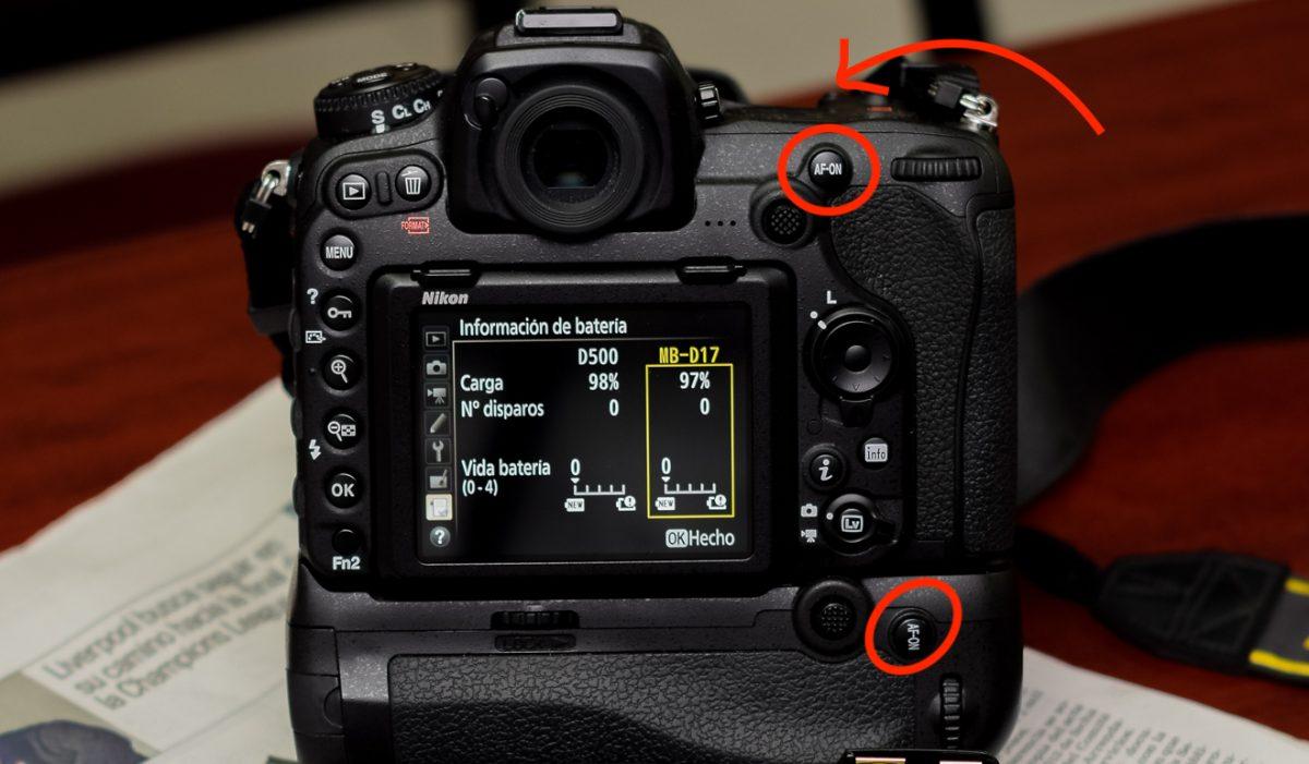 Botón AF-ON Nikon D500
