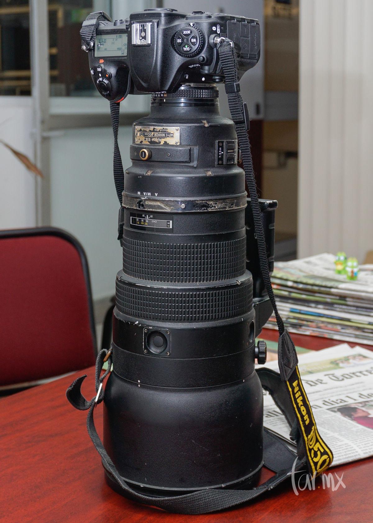 Nikon D500 con Nikon 400mm f/2.8