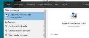 Añadir o cambiar el perfil de color en Windows 10