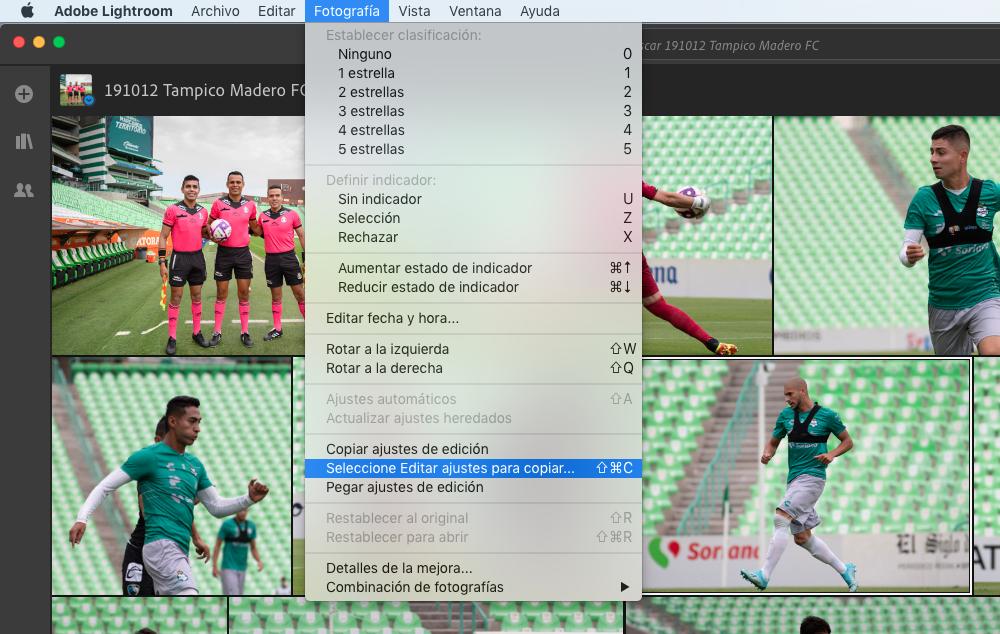 Copiar y pegar ajustes a todas las fotos en Adobe Photoshop Lightroom 2019